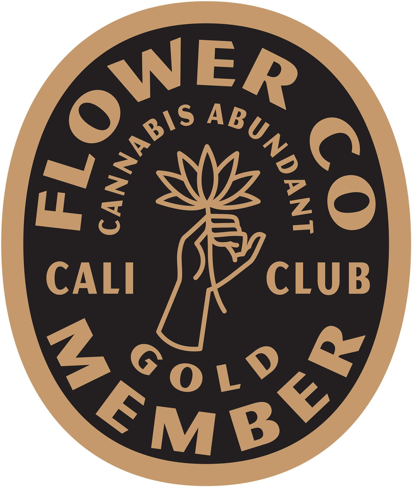 FLOWER CO. Gold Membership Pin