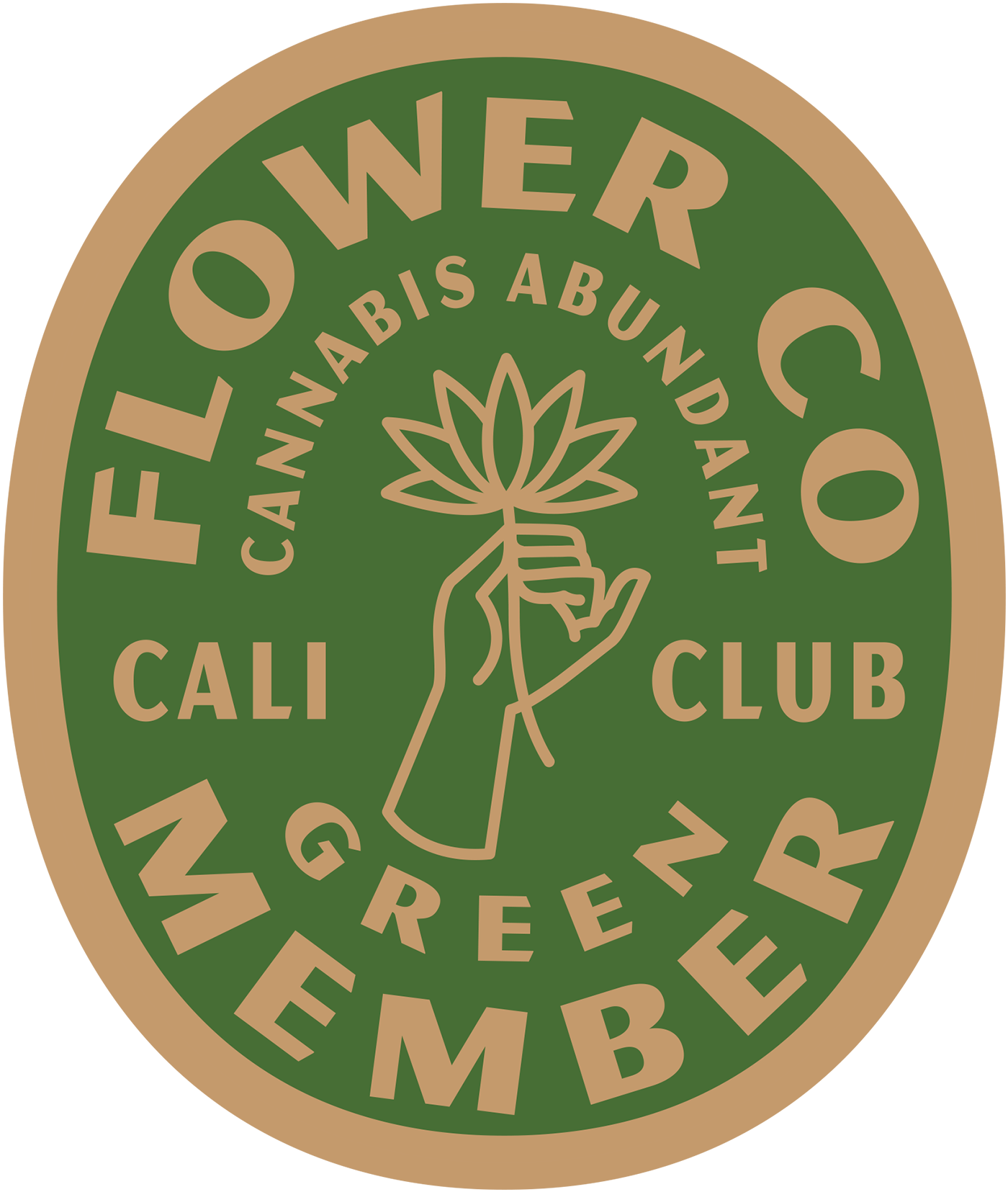 FLOWER CO. Green Membership Pin